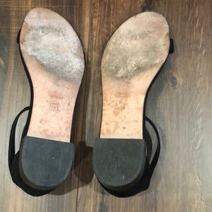 Stuart Weitzman Shoes - Stuart Weitzman Black Suede flat sandals
